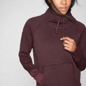 Athleta Jackets & Coats - Athleta Elevation Burgundy Stripe Pullover